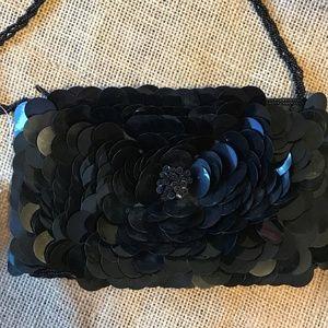 La Regale Sequin Evening Hand Bag Prom Purse